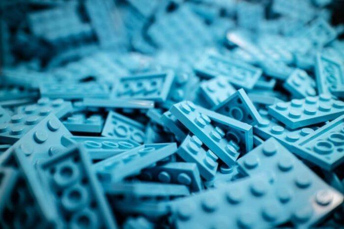blue lego blocks
