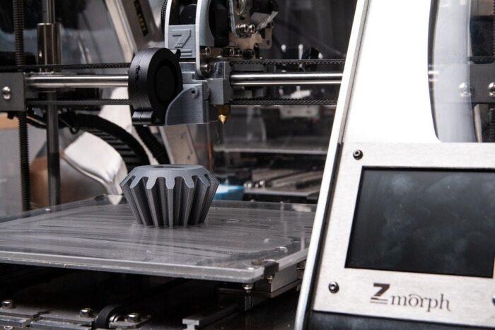 3D print manufacturing in process